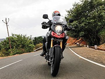 The Suzuki V Strom is hefty, but sporty