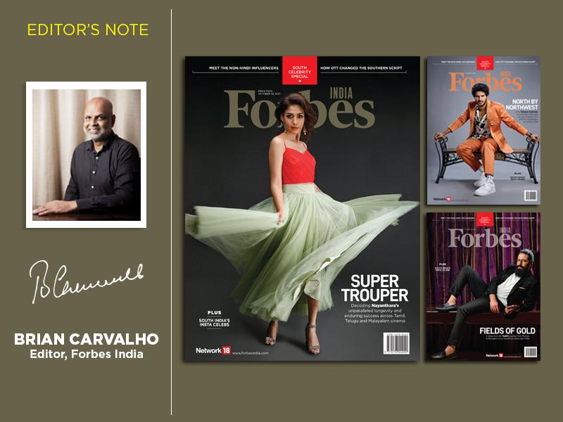 Why Forbes India is doing a South celebrity special