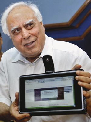 LOST CAUSE Human Resource Development Minister Kapil Sibal