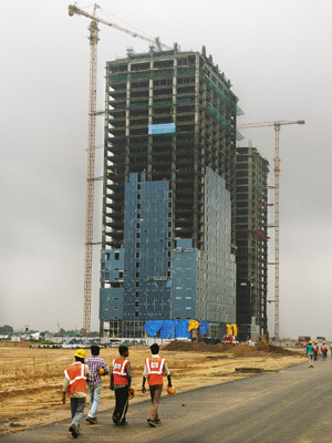 STANDING TALL The Gujarat International Finance Tec-City is one of Modi�s most ambitious projects. Spread over 4 sq km and boasting state-of-the-art facilities, it hopes to replace Mumbai as India�s financial capital