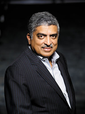 Nandan Nilekani, chairman of the UIDAI
