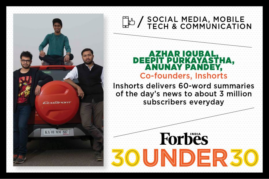 Forbes India: 30 Under 30 list for 2016